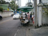 Typical street scene in Bangkok, Thailand